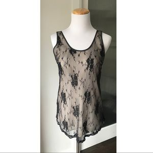 Aritzia Wilfred lace overlay tank